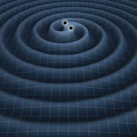 Système binaire de trous noirs (crédits : NASA)