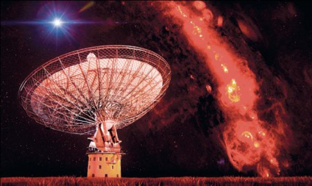 CSIRO's Parkes radio telescope (credit: Swinburne Astronomy Productions)