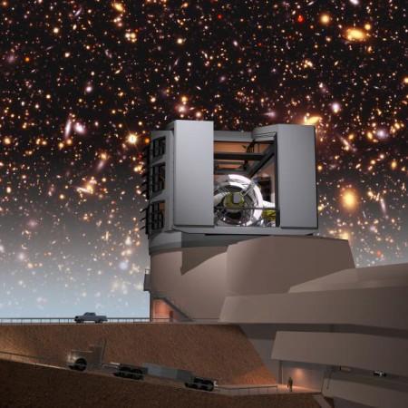 LSST tel qu'il sera dans quelques années (crédits : LSST collaboration)