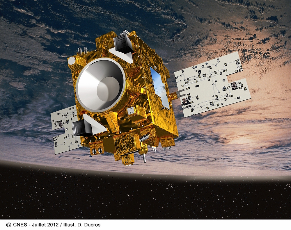 Satellite Microcsope. Copyrigths CNES. (Illustration de D. Ducros)