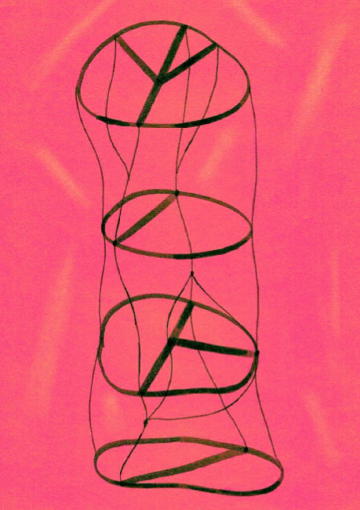 Illustration libre d'une mousse de spin (dessin de Lucile Bienvenu)