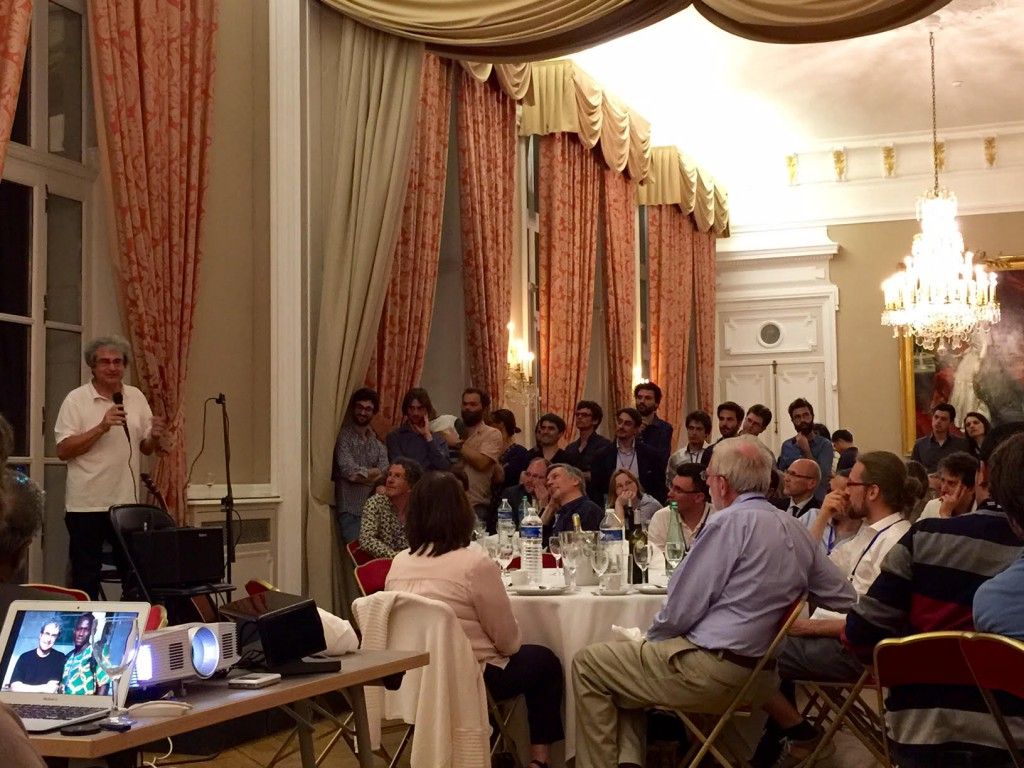 Carlo Rovelli au diner de la conférence