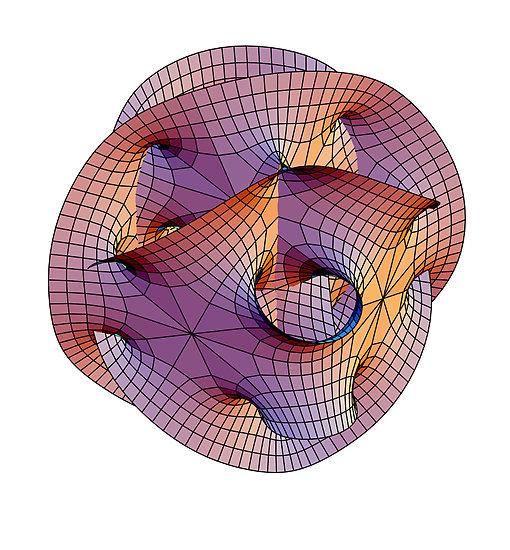 Variété de Calai-Yau en théorie des cordes (by Stewart Dickson)