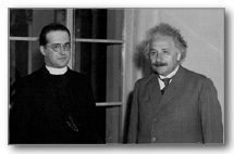 Georges Lemaître with Albert Einstein in Pasadena, 1932