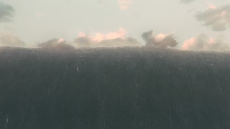 The giant tidal wave on Miller's planet featured in Interstellar