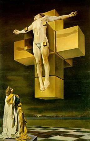 Salvador Dali, Crucifixion (Corpus Hypercubus), 1954, oil, 94.3cm x 123.8cm. Metropolitan Museum of Art, New York.