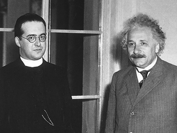 Georges Lemaître meets Albert Einstein in Pasadena (1934)