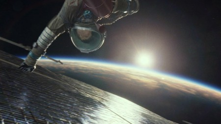 "A spectacular scene of the film ""Gravity"""