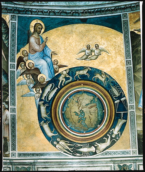 Young Christ as Creator. The wonderful fresco adorning the cupola of the baptistery of San Giovanni in Padua is the work of the Florentine artist Giusto Dei Menabuoi, who was active in the second half of the 14th century. It shows God the Son as Creator. Giusto Dei Menabuoi, [The Creation of the World], 14th century.