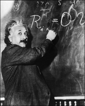 A Cosmic Formula. Today the origin of the universe is accounted for by big bang theory, which is a particular application of the general theory of relativity, whose formulae were worked out by Einstein. Relativity describes space, time and gravity in purely geometric terms.