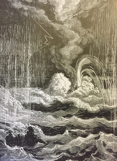 "The Creation of Life. In this completely revised edition of a work first published in 1877, the French astronomer Camille Flammarion described an imaginary tour of the planets in the solar system. He pictured Jupiter covered in raging oceans, violent flashes of lightning piercing the dense atmosphere — the sort of environment in which life could develop. In fact this sort of ""prebiotic primordial soup"", which Stanley Miller attempted to recreate in his laboratory 75 years later, might have existed on earth three and a half billion years ago. Camille Flammarion, Les Terres du ciel, 1884."