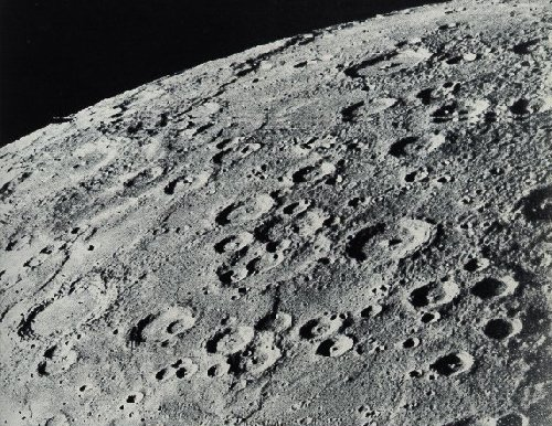 A Rocky Planet. The planets nearest the sun (Mercury, Venus, Earth and Mars) soon lost their gaseous elements and developed solid, rocky crusts. Here the surface of Mercury is pitted with craters from meteorite impacts. ©NASA