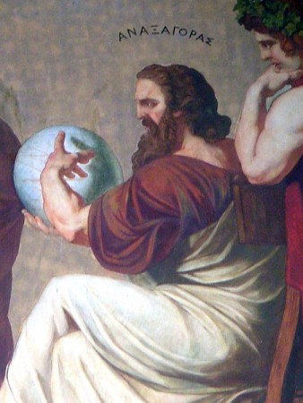 Part of a fresco in the portico of the National University of Athens representing Anaxagoras.