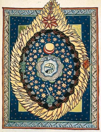 The world according to the German mystic Hildegarde von Bingen, 11th century.