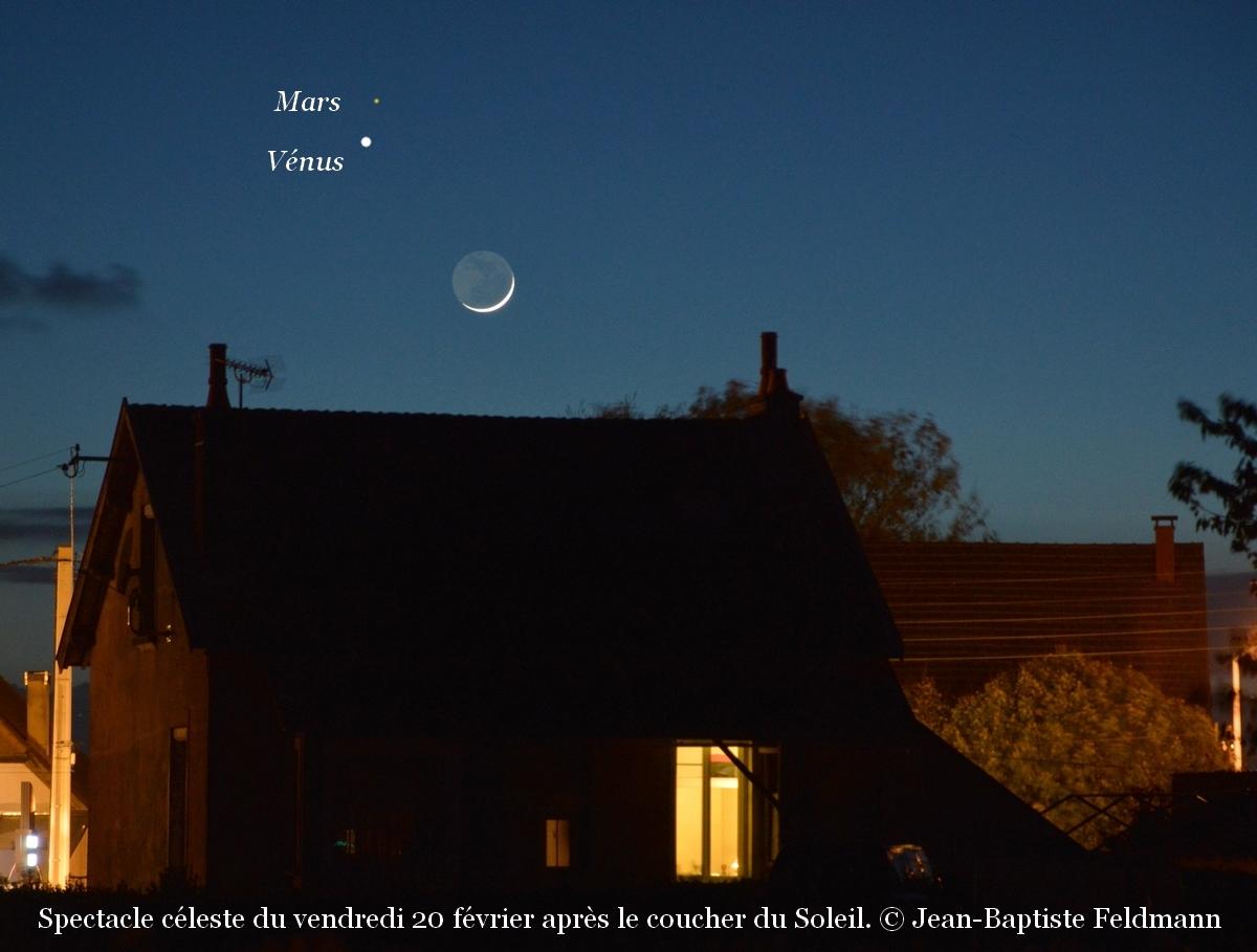 20 f vrier deux plan tes ont rendez vous avec la lune - A quelle heure se couche le soleil ce soir ...