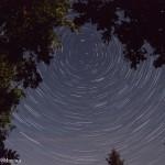 Rotation d'étoiles dans le ciel de la Bresse