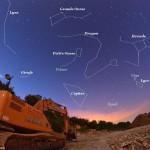 La constellation du Dragon serpente entre les deux Ourses