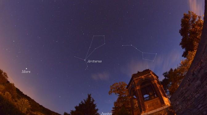 La constellation du Bouvier, un cerf-volant au zénith