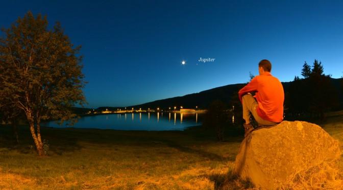 Une soirée au bord du lac des Hermines