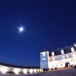 Pleine Lune des chasseurs sur le château du Clos de Vougeot