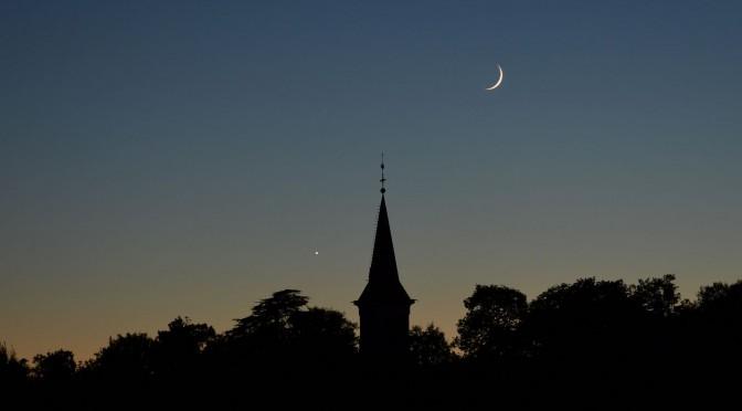 3 octobre : la Lune et Vénus se retrouvent au crépuscule