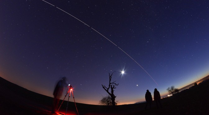 Une soirée pour contempler Mars, la Lune, Vénus et l'ISS