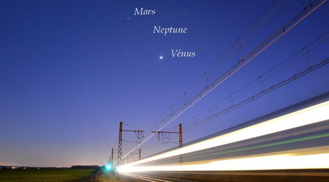 Trafic sur l'écliptique : 3 planètes se bousculent à l'ouest