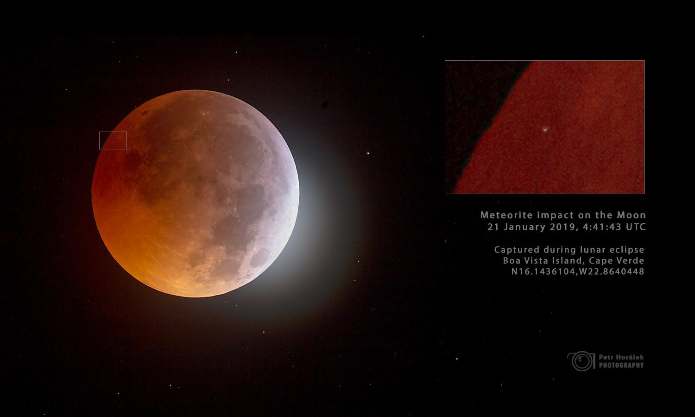 Une météorite frappe la Lune pendant l'éclipse du 21 janvier