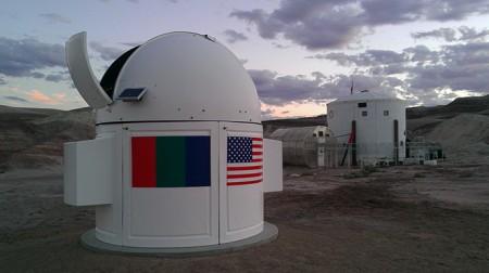 La base martienne MDRS de la Mars Society possède une coupole et un télescope de 13 pouces, cofinancé par Elon Musk de SpaceX (photo mars-russia.ru)
