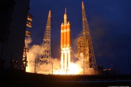 Lancement le 5 décembre 2014 depuis Canaveral du vaisseau Orion (crédit:Mike-Deep-SpaceFlightInsider)