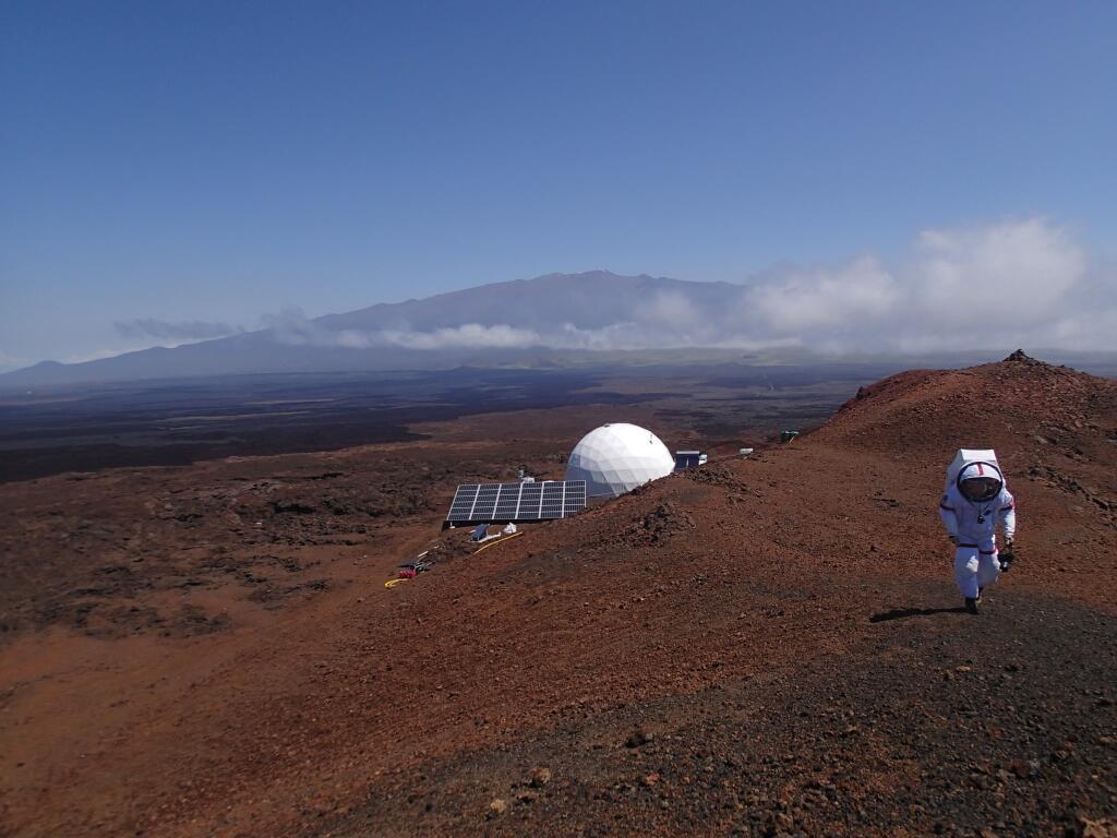 Le dôme de la simulation sur le volcan Mauna Loa (hi-seas.org)