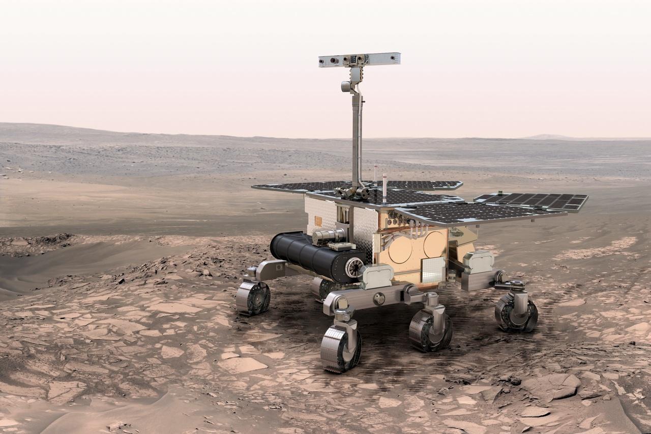 Vue d'artiste de la sonde européeenne ExoMars (ESA)