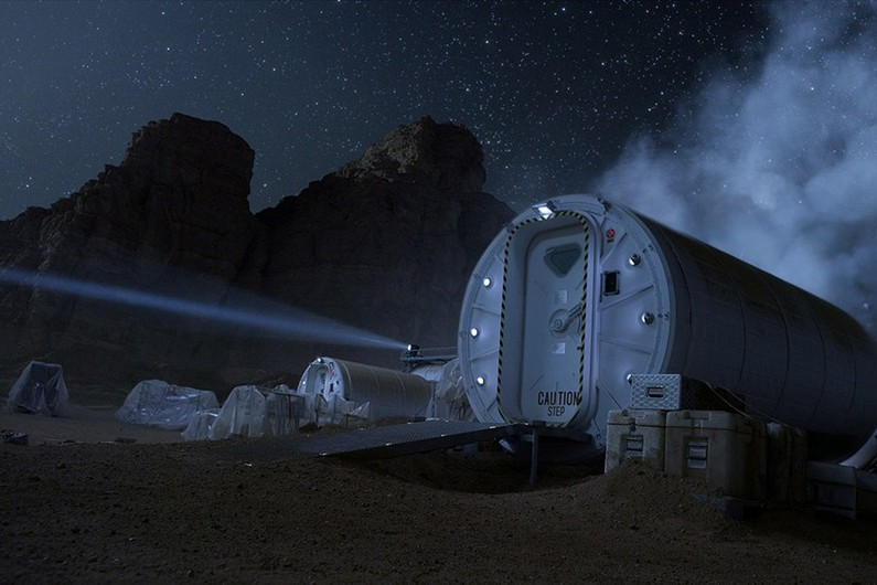 L'habitat martien du film m'a furieusement rappelé les infrastructures de mes propres simulations de séjour sur Mars dans l'Arctique...