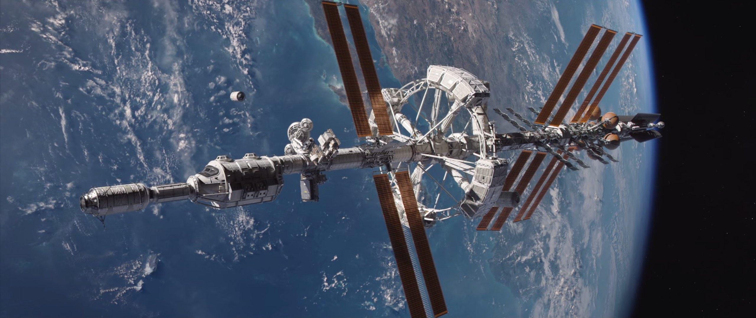 Le vaisseau martien Hermes est surdimensionné pour un équipage de cinq personnes