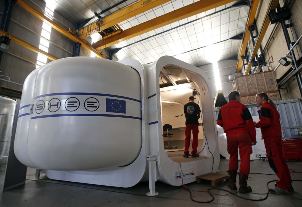 Le module SHEE en intégration à la Comex (Crédit: Jean-Paul Pelissier, Reuters)