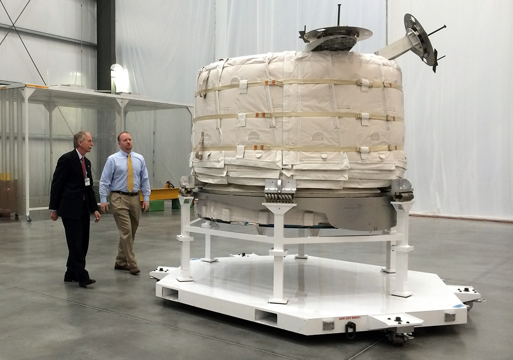 Module gonflable de Bigelow Aerospace en position repliée