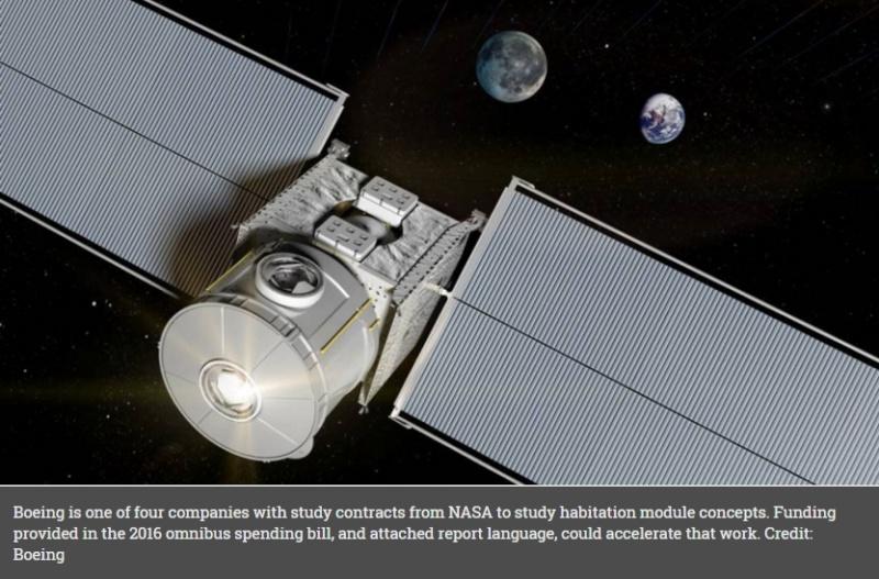Une version d'habitat par Boeing