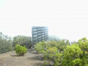 Attrape-brouillard installé avec le projet européen Dysdera en 2006. El Hierro. Cruz de los Humilladeros.