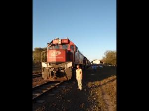Train diesel Campo Grande-Miranda avec prolongation pour les marchandises jusqu'à Corumba qui dessert le sud du  Pantanal jusqu'à la ville-frontière de la Bolivie sur le Parana. Aujourd'hui le trafic se fait par la route pour la très grande majorité. A. Gioda, IRD.