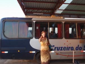 Miranda, Etat de Mato Grosso del Sur. A la gare routière vers Bonito, une des attractions touristiques naturelles du Sud brésilien. A. Gioda, IRD.