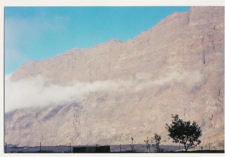 La caldera du volcan actif de lîle de Fogo dans l'archipel du Cap-Vert. Y pousse, à quelque 2 000 m d'altitude, un petit vignoble.