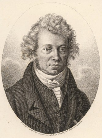 Portrait d'André-Marie Ampère (1825) par Ambroise Tardieu — The Dibner collection at the Smithsonian Institution (USA).