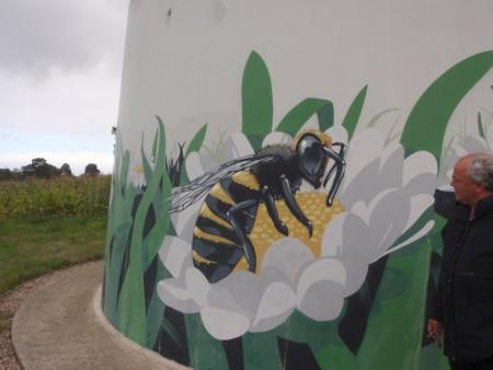 Eoliennes citoyennes à Plélan-le-Grand, Ile et Vilaine, Bretagne. Parc éolien de Brocéliande Energies Nouvelles. Cliché : A. Gioda, IRD.
