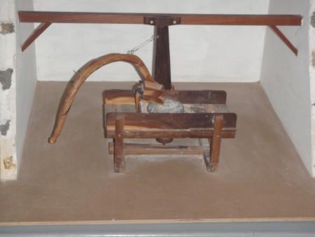 Moulin à grain à traction animale. Musée de Tiscamanita, île de Fuerteventura. Cliché : A. Gioda, IRD.