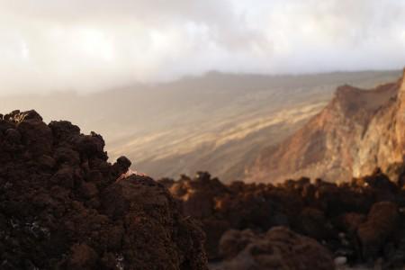 """""""Malpais"""" ou désert volcanique sur la côte de la Mar de las Calmas. El Hierro. ©Akim Pavageau, ENSAM."""