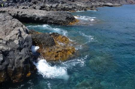 Rochers du Mar de las Calmas. Débarcadère d'Orchilla, El Hierro. ©D. Chirpaz, IRD/Lycée Jean Monnet.