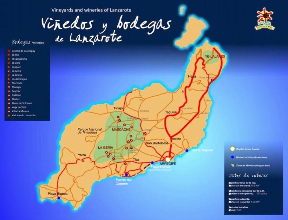 Carte Lanzarote Tourisme.Lanzarote Le Volcan Le Desert Et Ses Vignobles Selon Luis