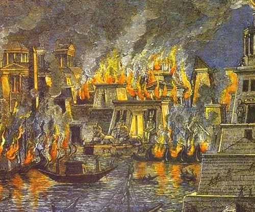 Incendie de la bibliothèque d'Alexandrie