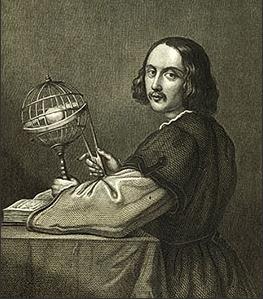 Portrait de Rheticus équipé d'un compas astronomique