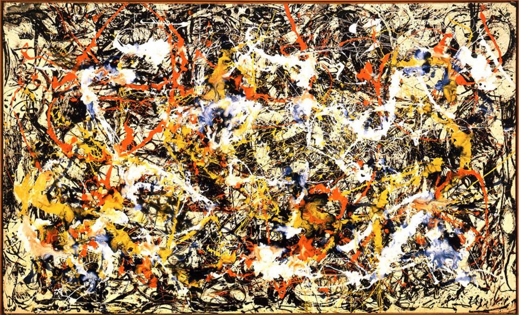 """Dans ''Artistic Forms and Complexity"""", Boon, Casti & Taylor ont quantifié la qualité entropique des peintures de Jackson Pollock, subtil équilibre entre ordre et désordre."""